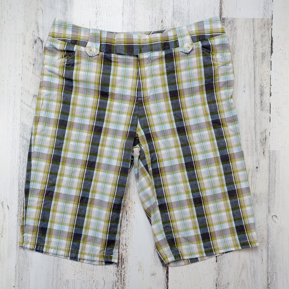 Banana Republic Pants - 🌿 Banana Republic Martin Fit Plaid Bermuda Shorts